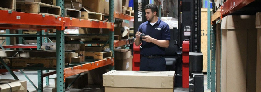 Clancy Employee in warehouse